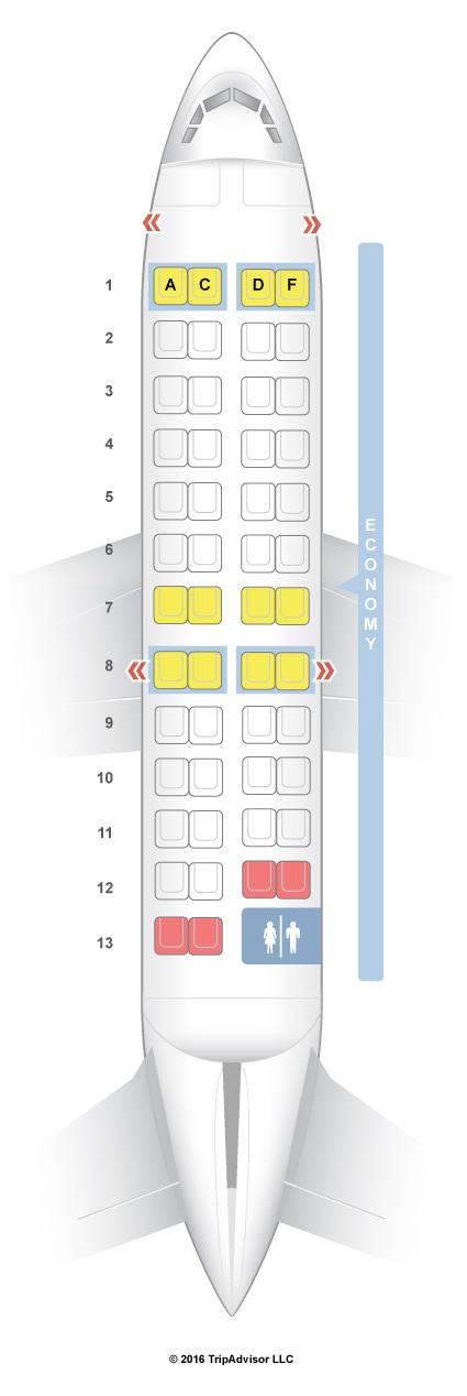 Seatguru seat map air canada bombardier crj 100 200 for Air canada pet in cabin