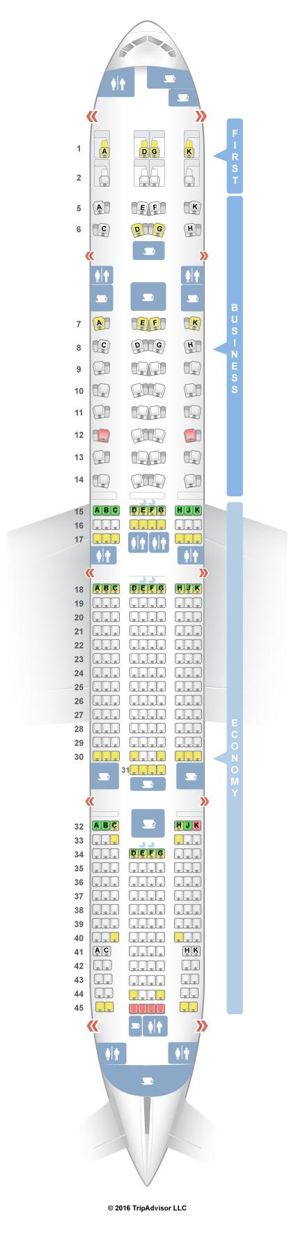 United Airlines First Class 777 200 SeatGuru Seat Map Etih...