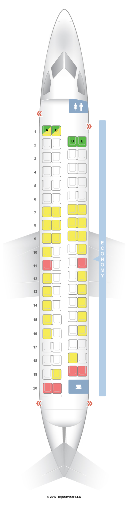 Seatguru Seat Map Alaska Airlines Bombardier Q400