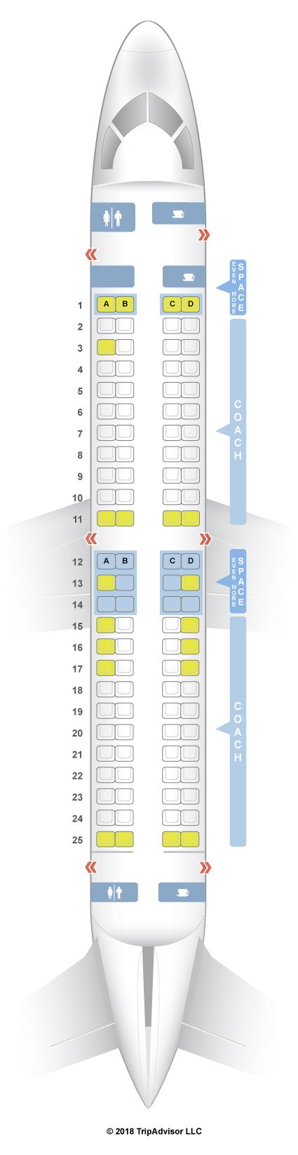 Seatguru Seat Map Jetblue Embraer E 190 E90