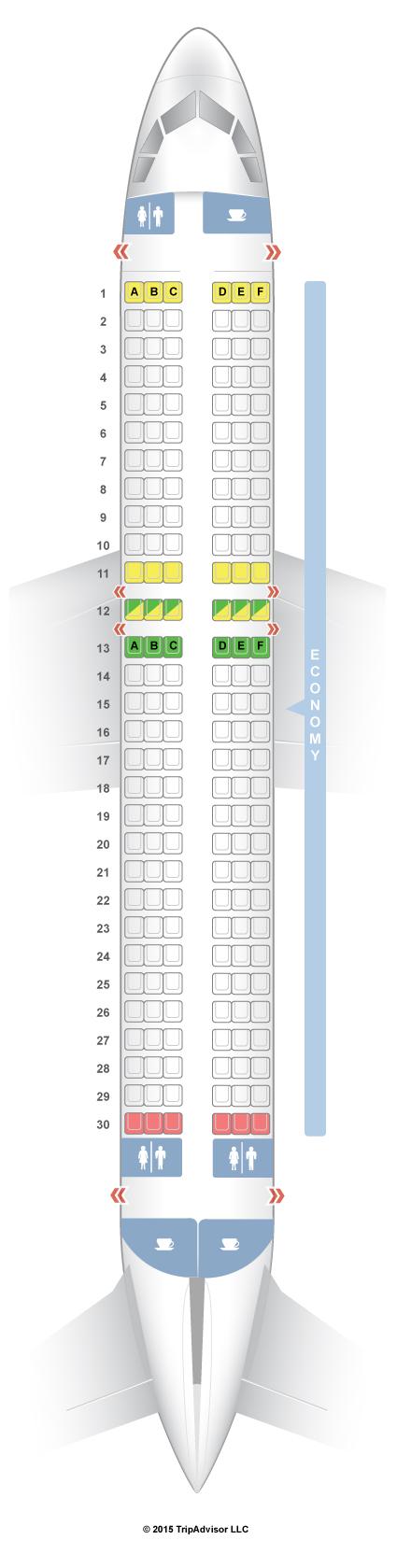 Seatguru Seat Map Indigo Airlines Airbus A320 320