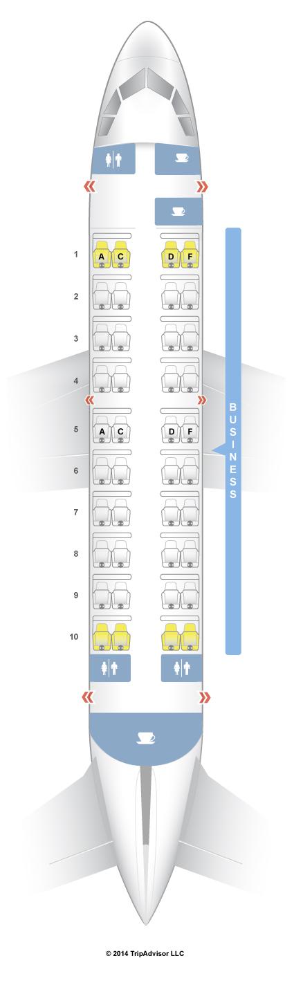 SeatGuru Seat Map Qatar Airways Airbus A319 (319) Business