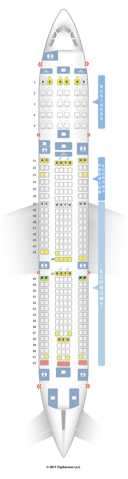 Boeing 757 Seating Chart Bing Images