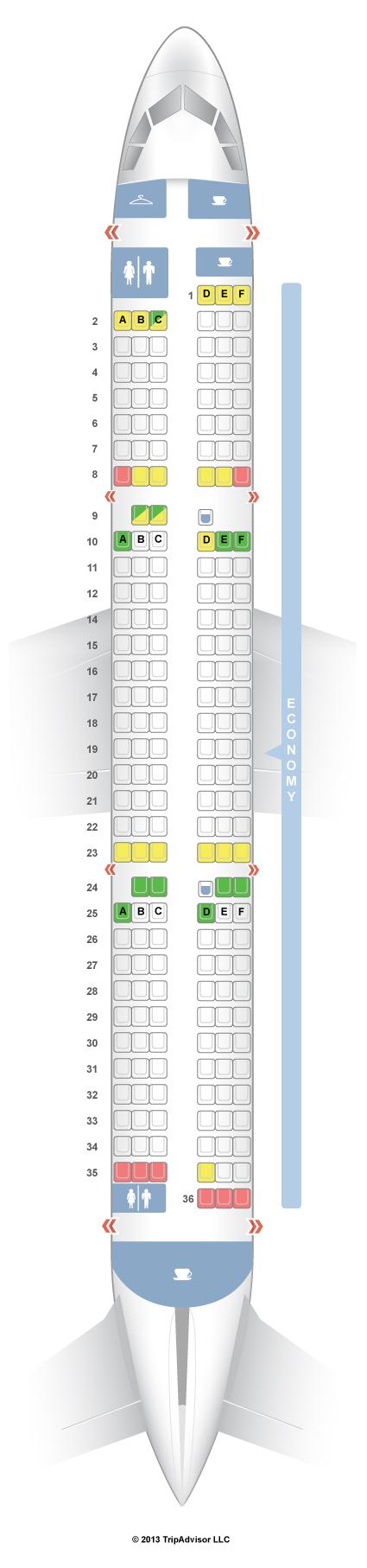 Seatguru Seat Map Sas Airbus A321 321
