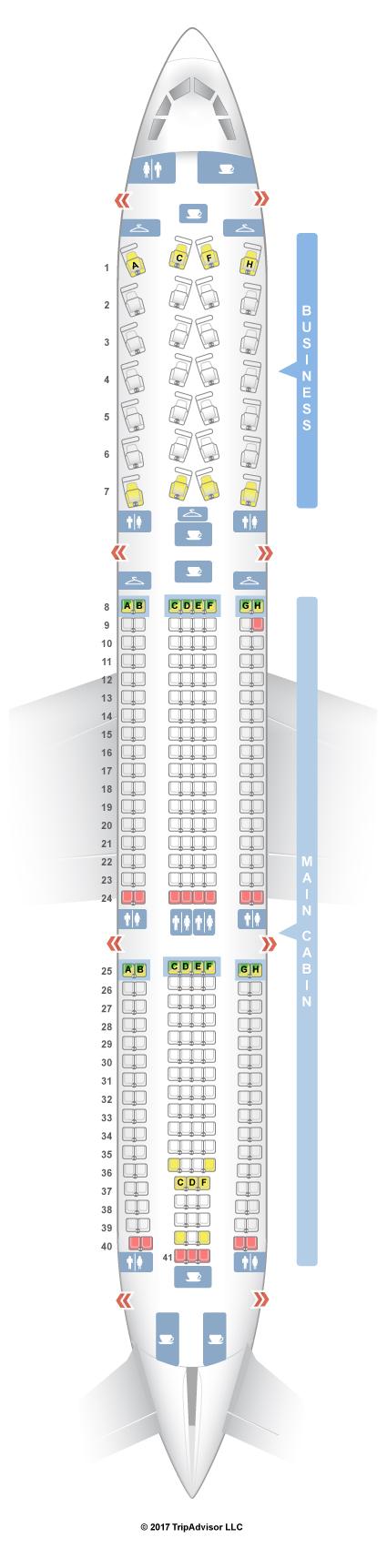 seatguru seat map american airlines airbus a330 300 333
