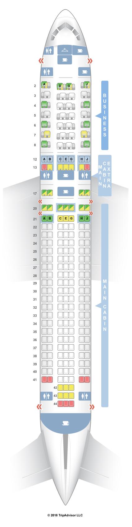 seatguru seat map american airlines boeing 767 300 763 v2