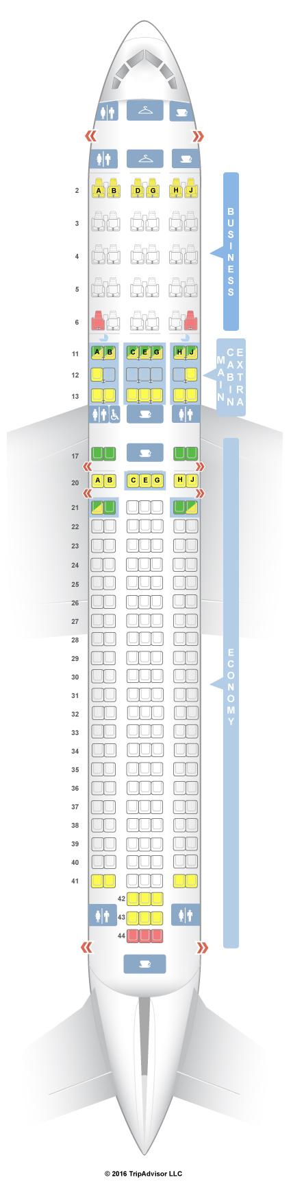 seatguru seat map american airlines boeing 767 300 763 v1