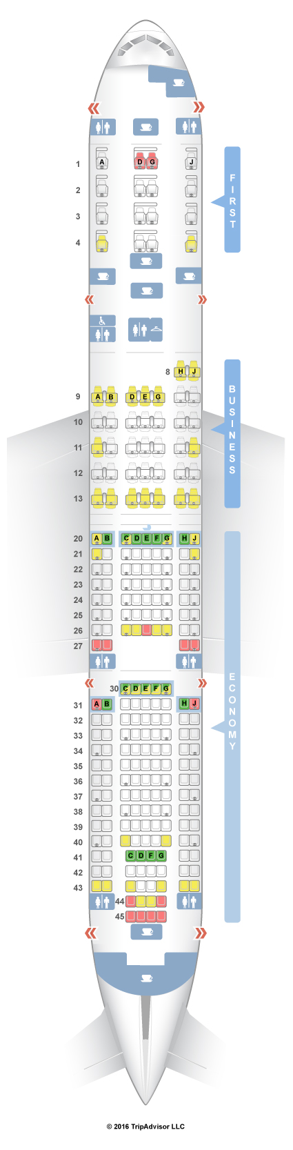 seatguru seat map american airlines boeing 777 200 777 v1