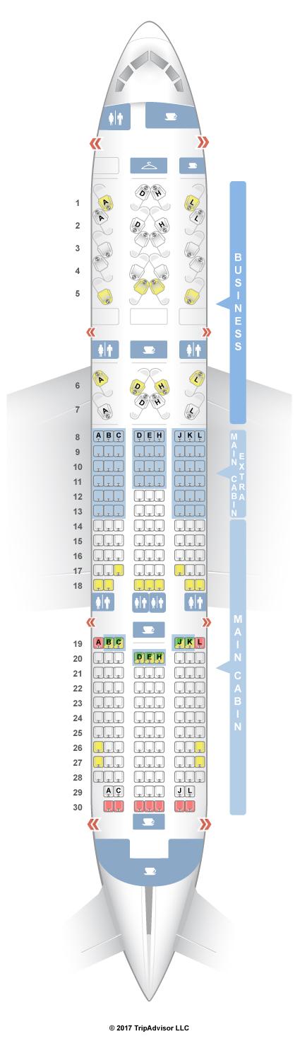 seatguru seat map american airlines boeing 787 8 788