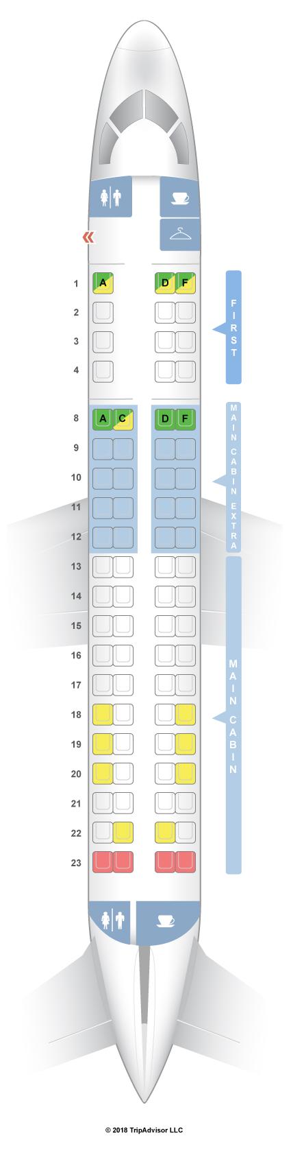 seatguru seat map american airlines embraer erj 175 e75 v1