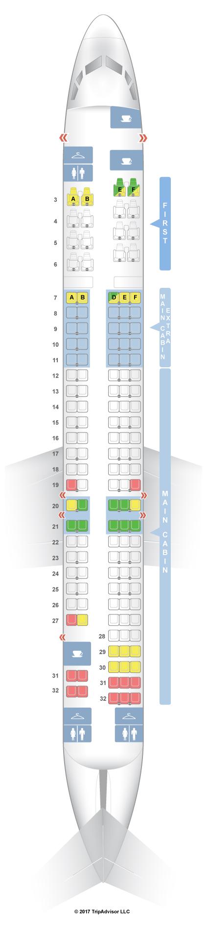 seatguru seat map american airlines mcdonnell douglas md 80 m80