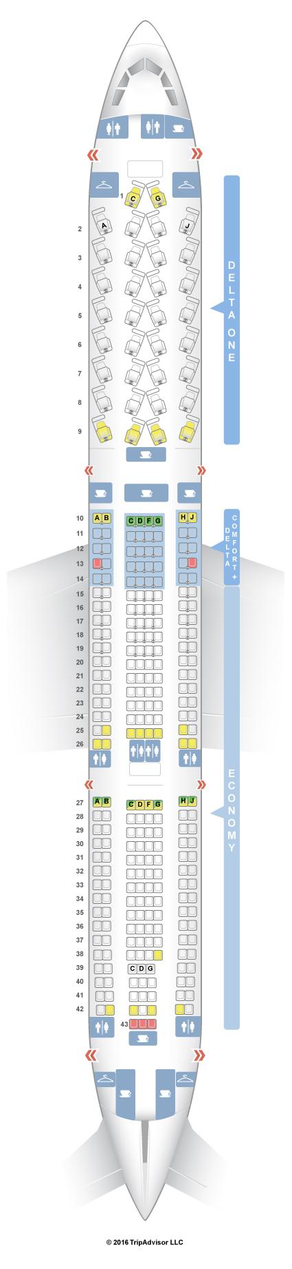 seatguru seat map delta airbus a330 300 333