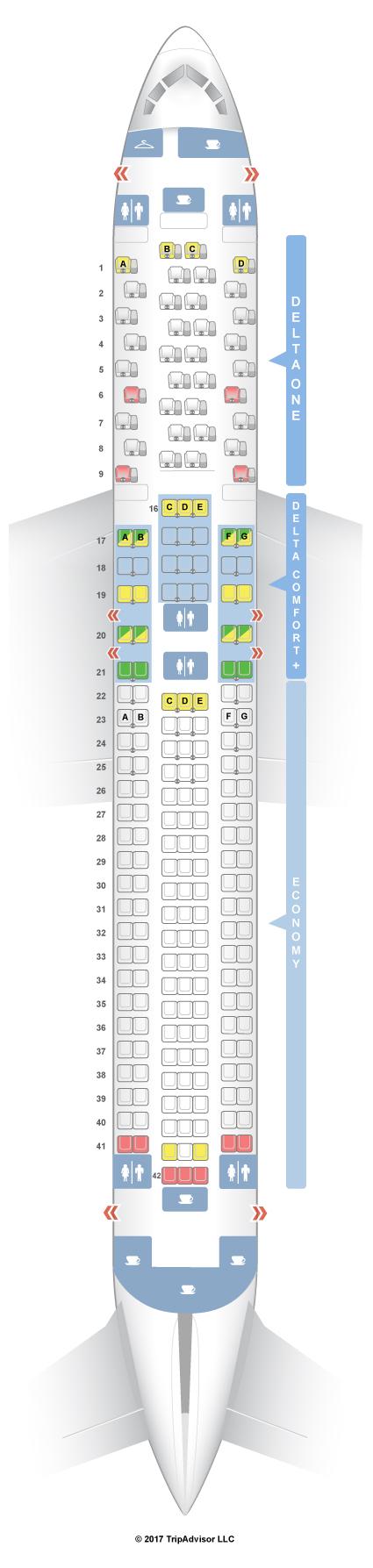 seatguru seat map delta boeing 767 300er 76l