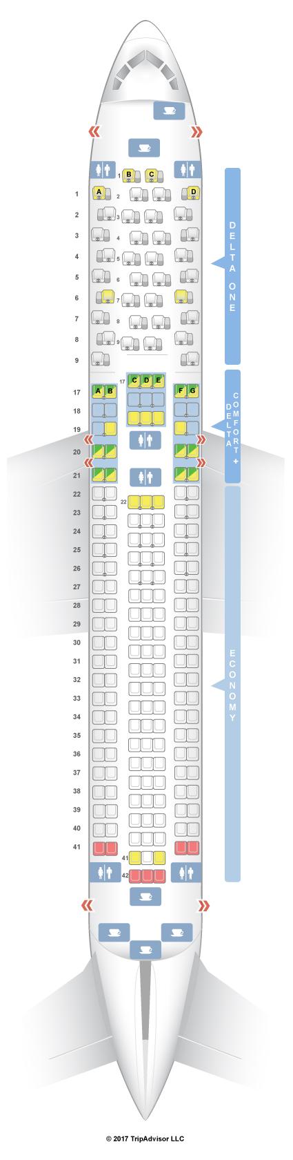 seatguru seat map delta boeing 767 300er 76t 76w