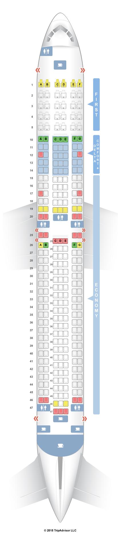 seatguru seat map delta boeing 767 300 76p 76q
