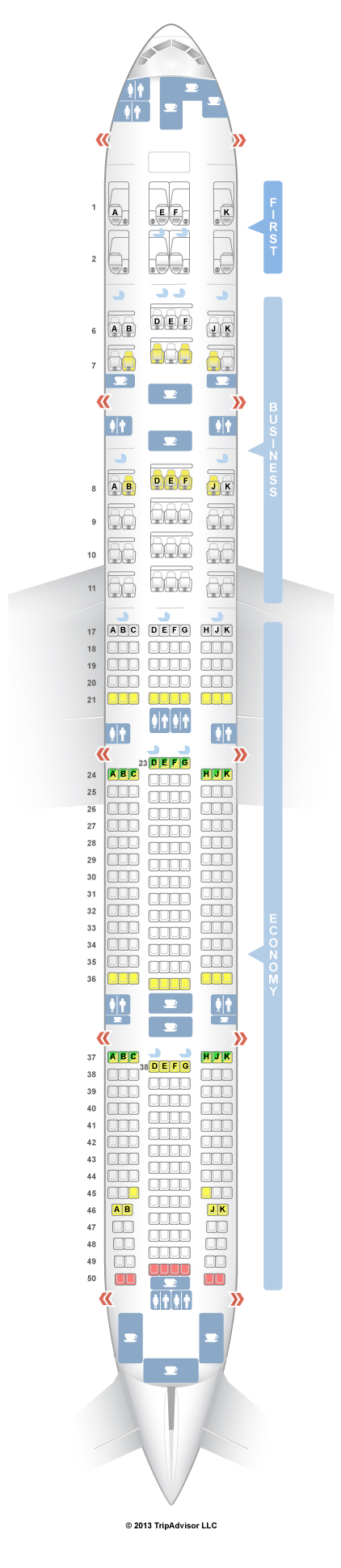 seatguru seat map emirates boeing 777 300er 77w three class v2