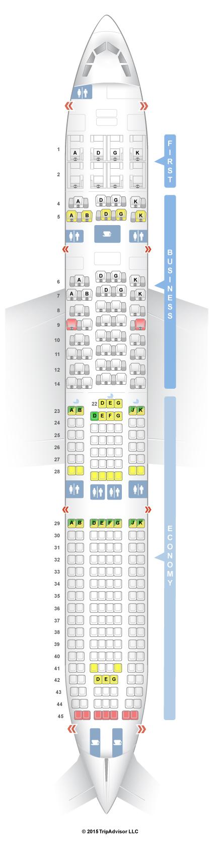 seatguru seat map swiss airbus a330 300 333