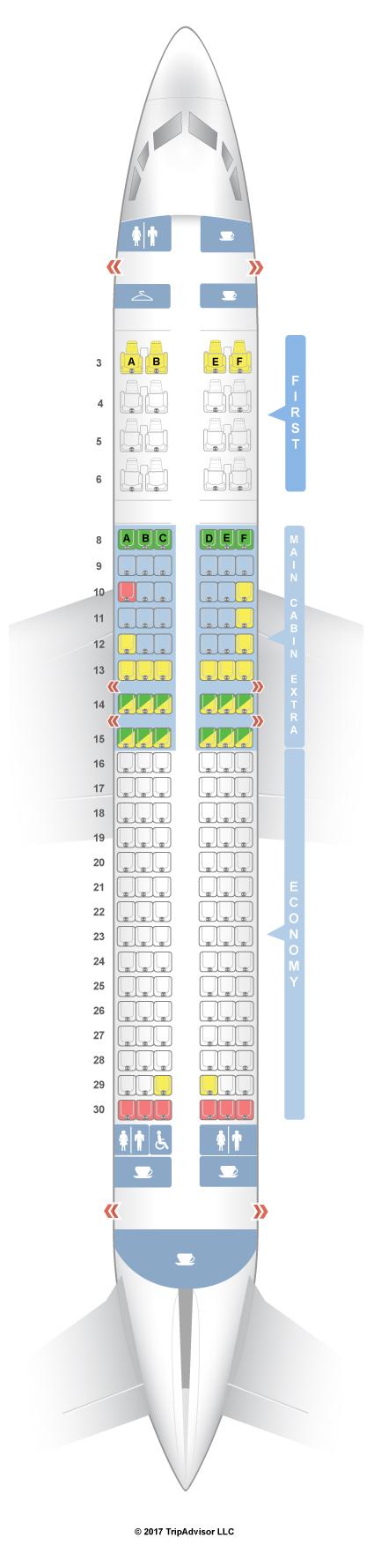 SeatGuru Seat Map American Airlines Boeing 737-800 (738) V1
