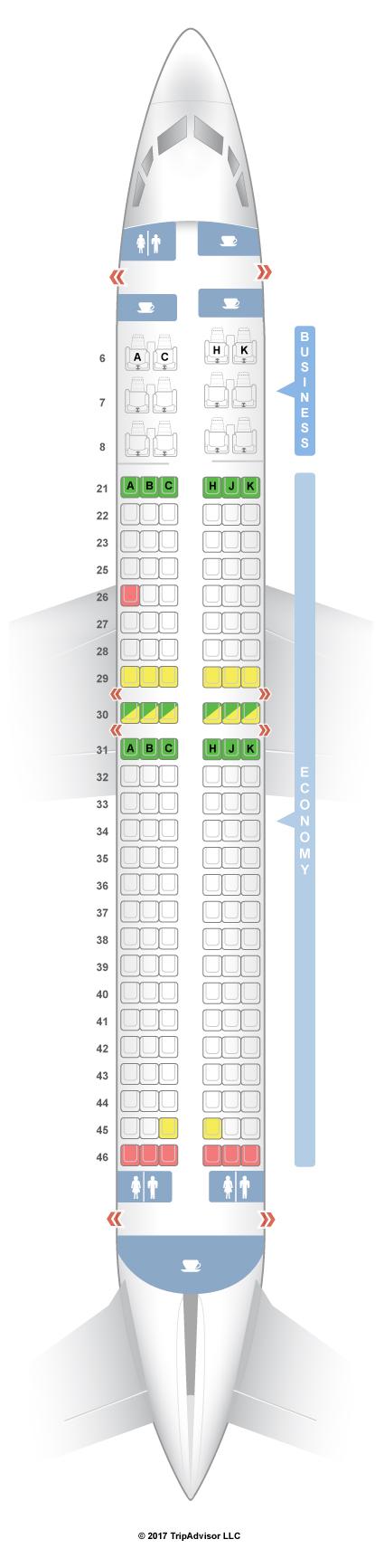 Seatguru Seat Map Garuda Indonesia Boeing 737 800 738