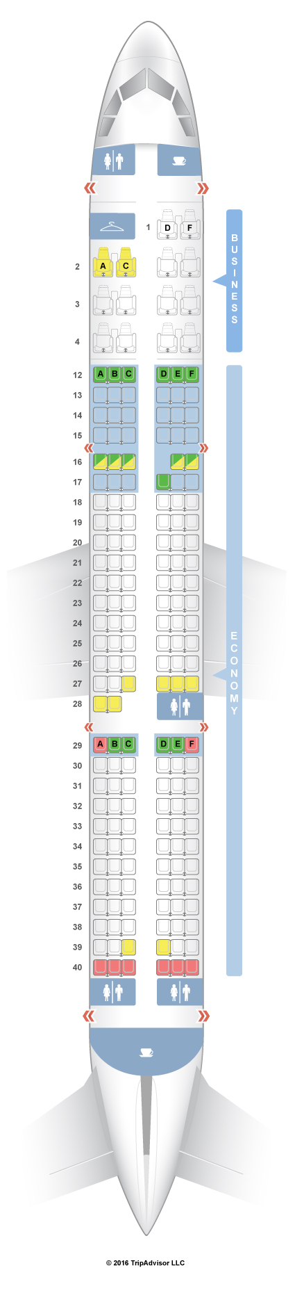 Air Canada Seating Chart Airbus A320 Seatguru Seat Map