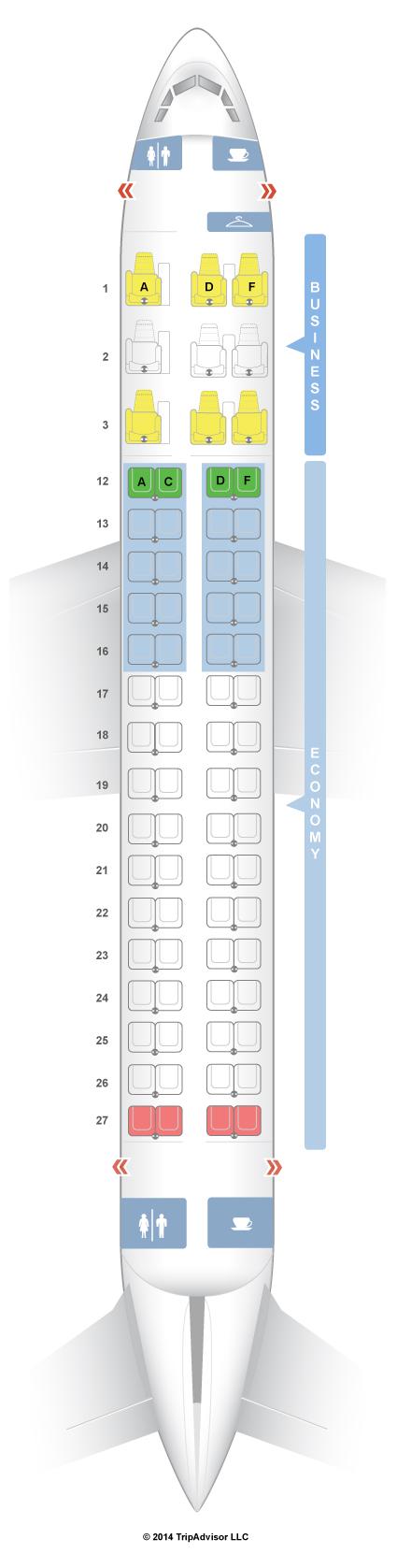 Seatguru seat map air canada embraer e 175 for Air canada pet in cabin