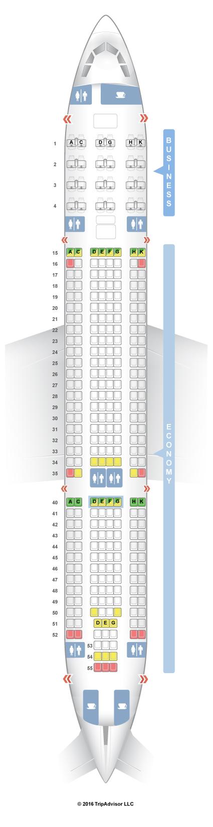 Air Tahiti Nui Seat Map
