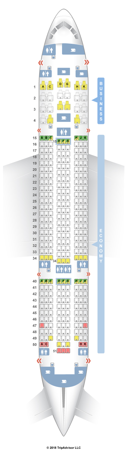 Seatguru seat map air europa boeing 787 8 788 for Interior 787 air europa