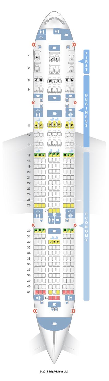 SeatGuru Seat Map Air India Boeing 777-200LR (77L)