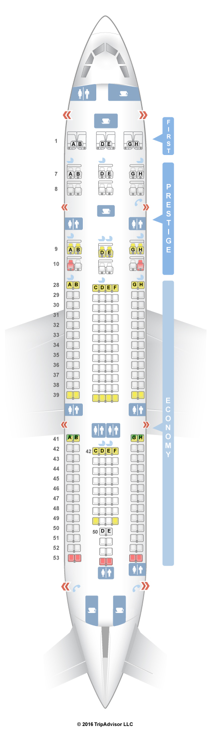 Seatguru Seat Map Korean Air Airbus A330 200 332