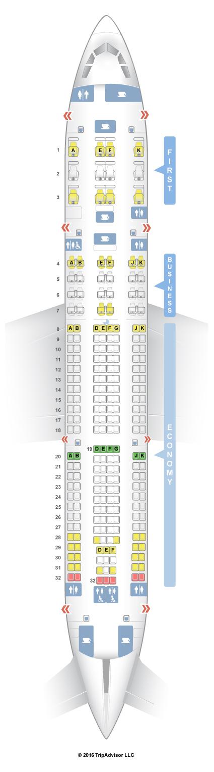 SeatGuru Seat Map Qatar Airways Airbus A330-200 (332) V3