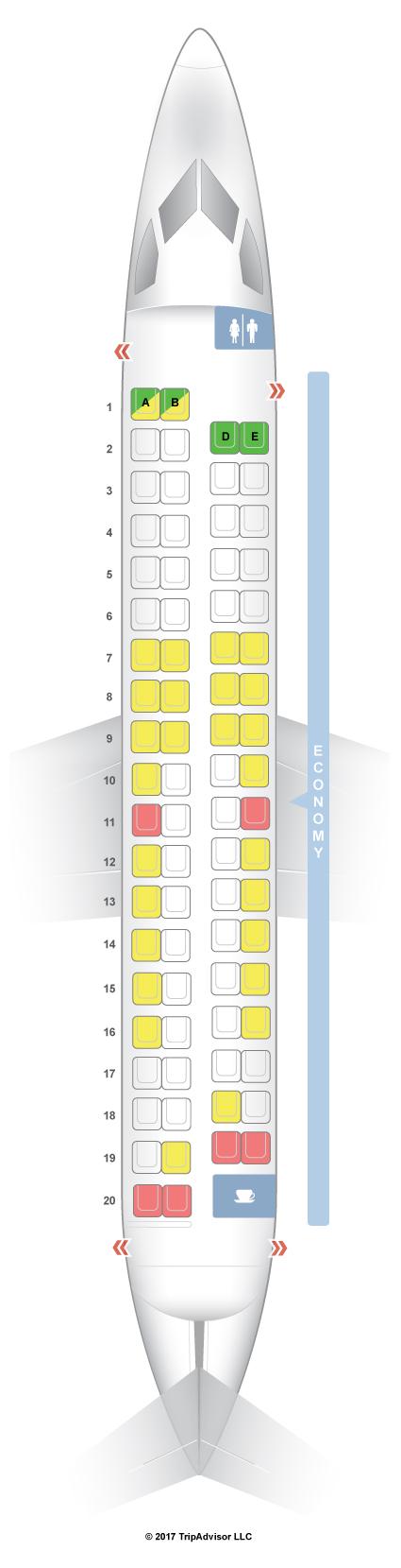 SeatGuru Seat Map Alaska Airlines Bombardier Q400