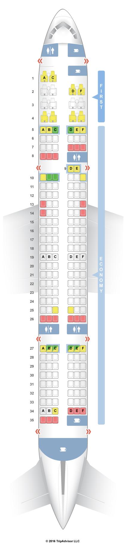 Seatguru Seat Map American Airlines Boeing 757 200 752 V3