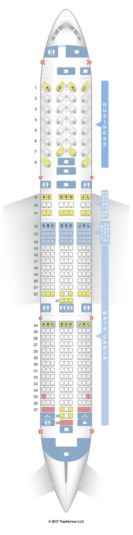 Seatguru Seat Map American Airlines Boeing 787 9 789