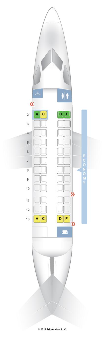 Seatguru seat map american airlines de havilland dash 8 dh3 sciox Gallery