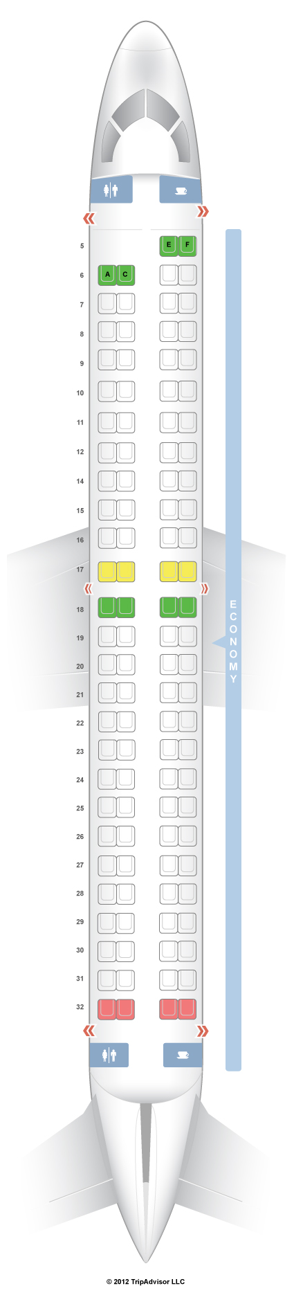 Frontier Airlines Seating Chart Emb E90 Brokeasshome Com