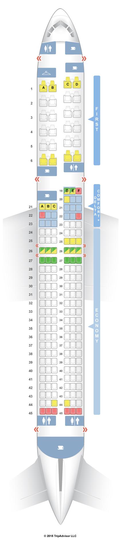 Seatguru seat map delta boeing 757 200 757