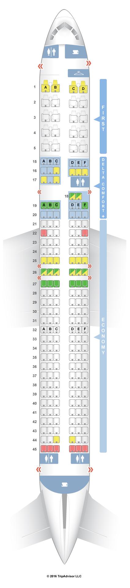 Seatguru seat map delta boeing 757 200 75d