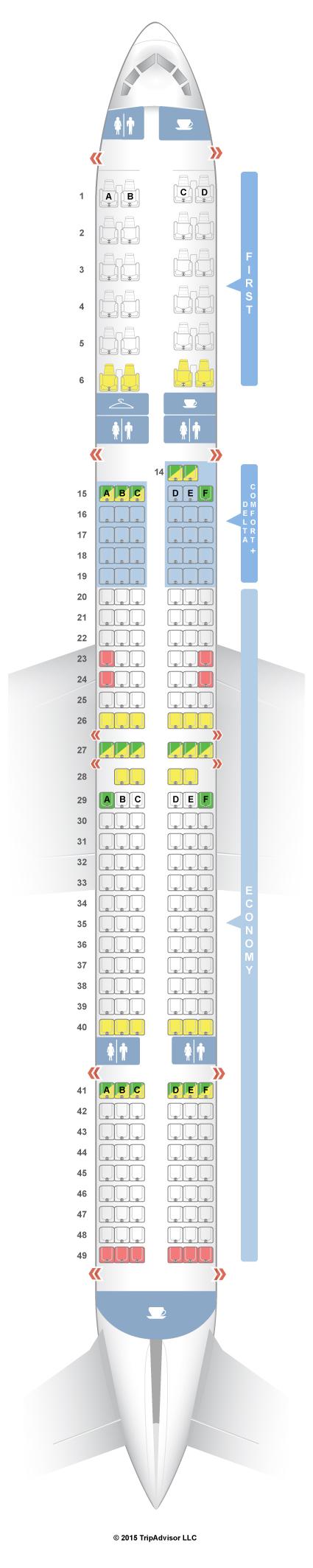 Seatguru seat map delta boeing 757 300 75y