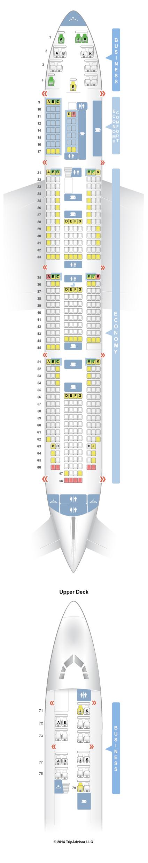 Seatguru Seat Map Klm Boeing 747 400 744 New Business