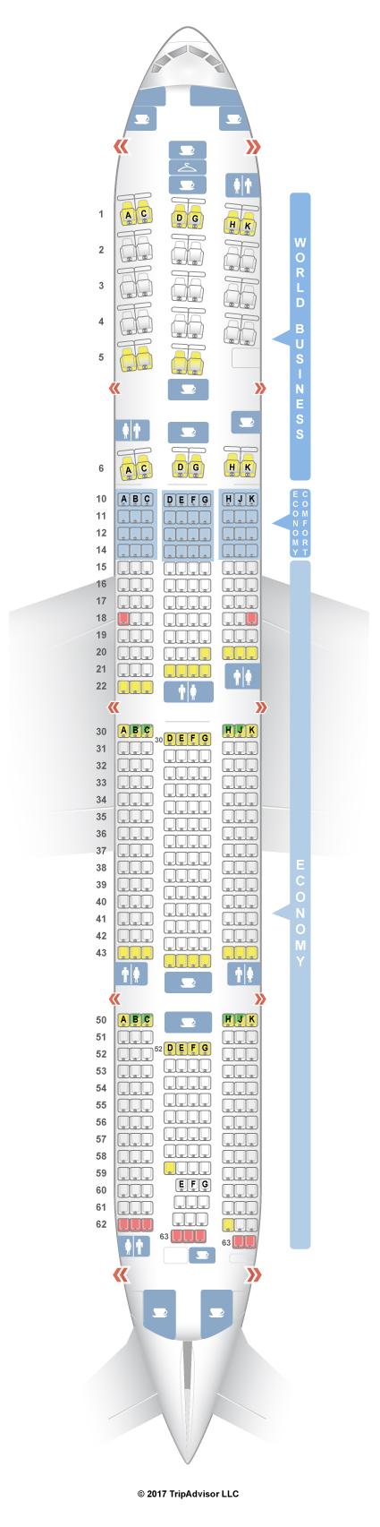 Seatguru Seat Map Klm Boeing 777 300er Brokeasshome Com Philippine Airlines Seating
