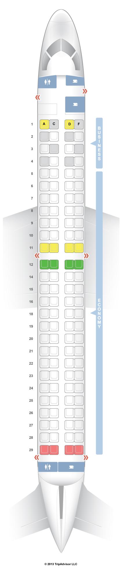Seatguru Seat Map Lufthansa Embraer E