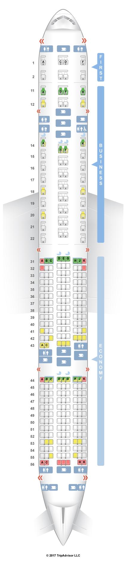 SeatGuru Seat Map Singapore Airlines Boeing 777-300ER (77W ... - photo#34