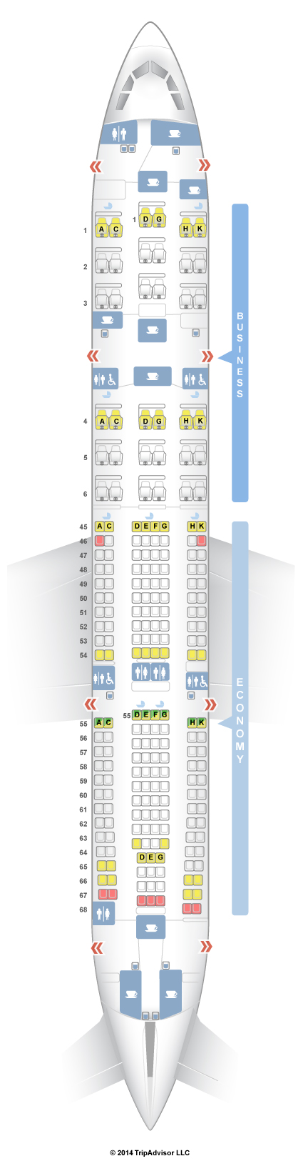 Seatguru Seat Map South African Airways Airbus A330 200 332