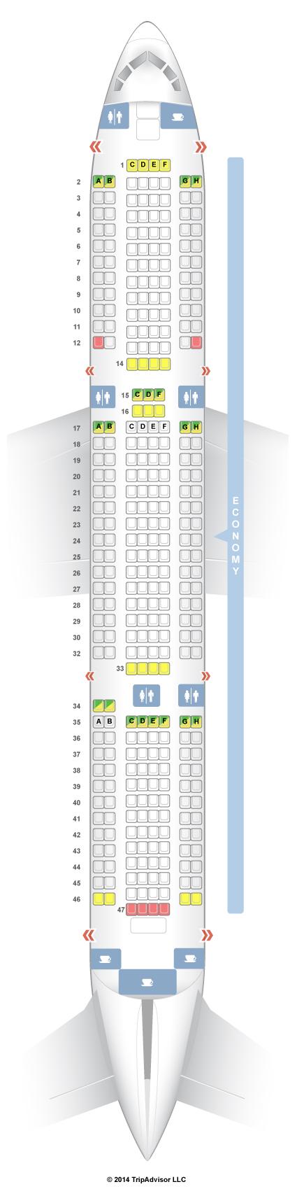 Seatguru Seat Map Thomson Boeing 767 300er 763 V1