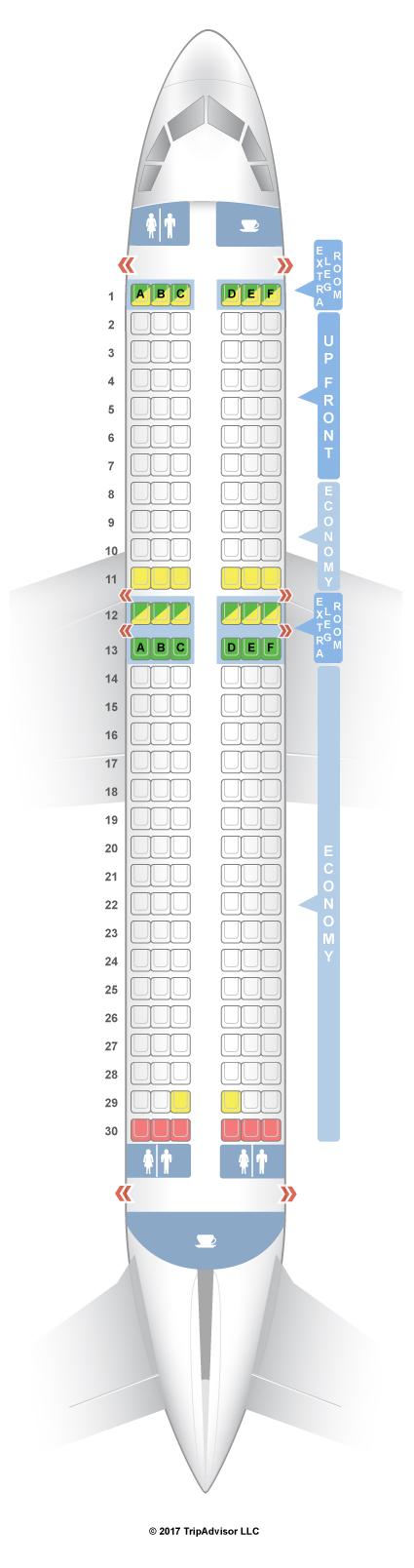 Seatguru Seat Map Tigerair Australia Airbus A320 320