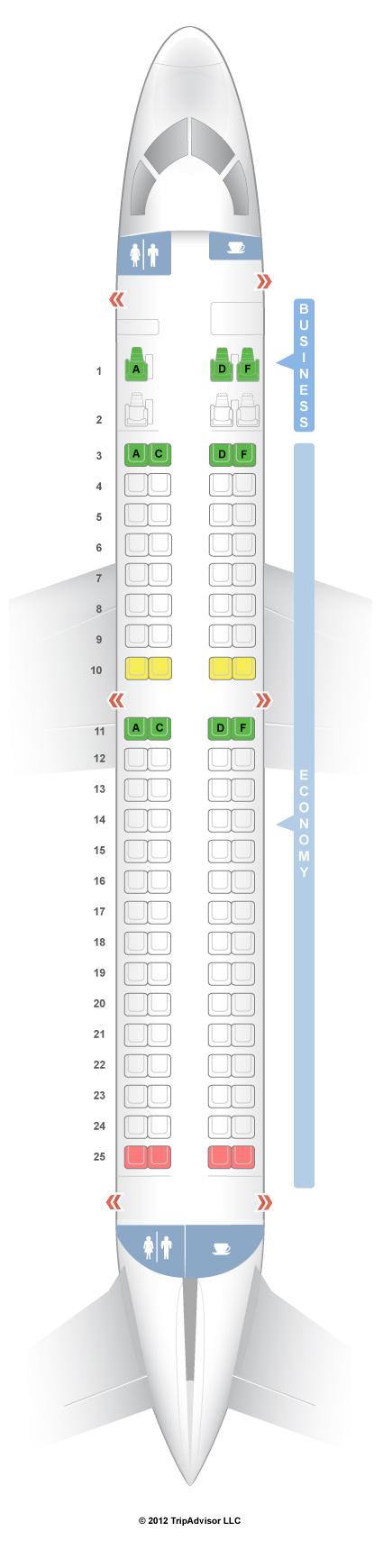 Seatguru Seat Map Virgin Australia Embraer Erj