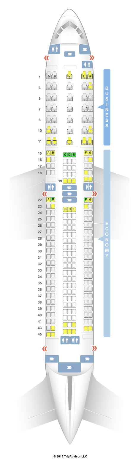 American Standard Toilet Seats >> SeatGuru Seat Map ANA Boeing 767-300ER (763) V2