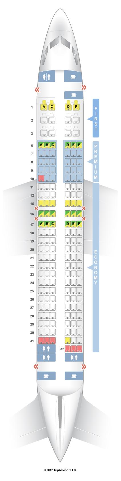 Seatguru seat map alaska airlines boeing 737 800 738 slimline