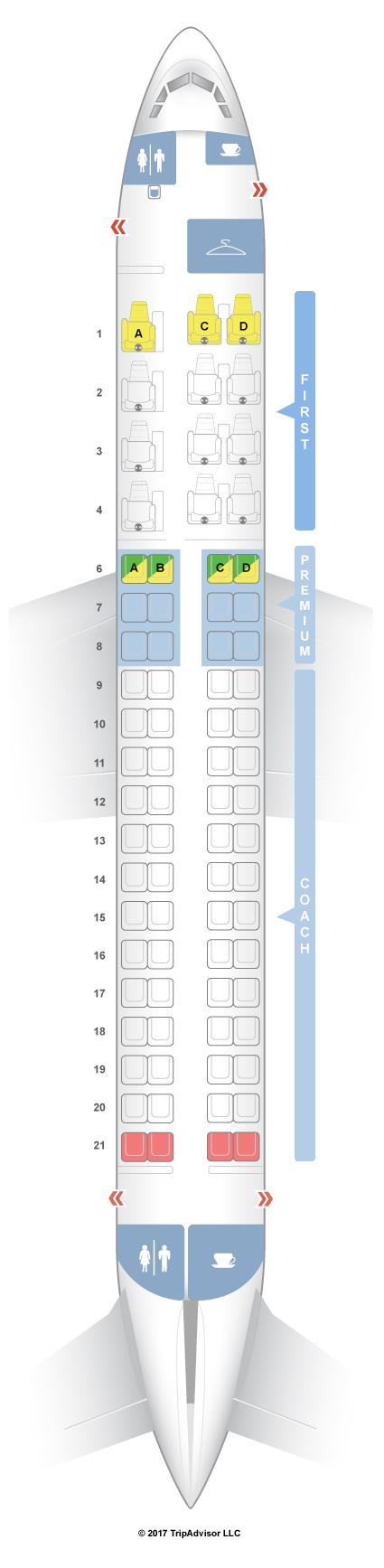 Seatguru seat map alaska airlines embraer 175 e75