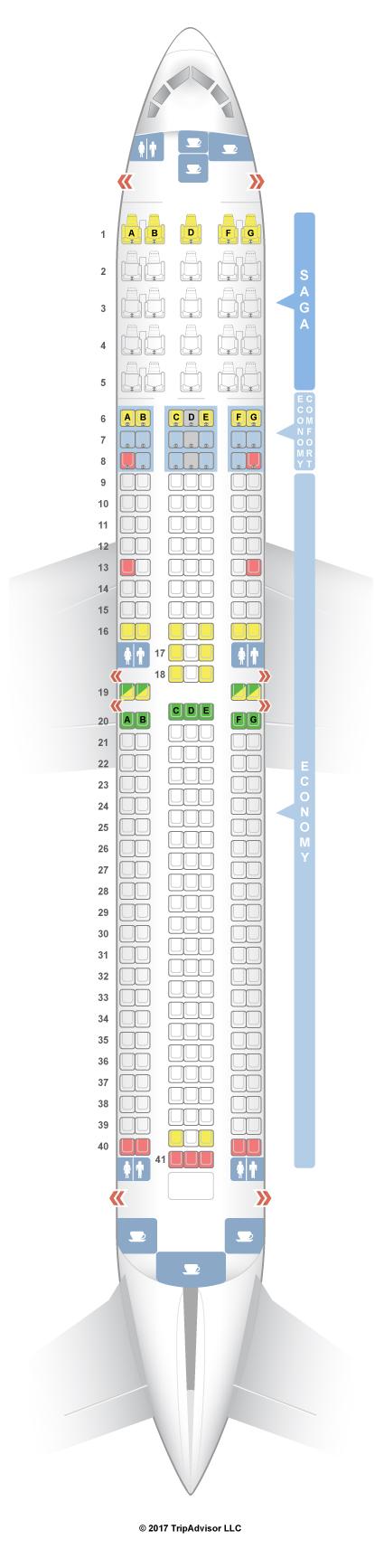 Seatguru Seat Map Icelandair Boeing 767 300er 76w